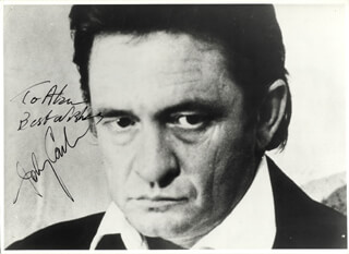 JOHNNY CASH - AUTOGRAPHED INSCRIBED PHOTOGRAPH