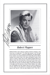 Autographs: LOVE LETTERS PLAY CAST - PROGRAM SIGNED CO-SIGNED BY: STEFANIE POWERS, ROBERT J. WAGNER