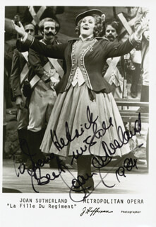 DAME JOAN SUTHERLAND - AUTOGRAPHED INSCRIBED PHOTOGRAPH 1984