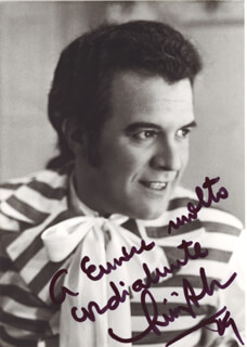 Autographs: LUIGI ALVA - INSCRIBED PHOTOGRAPH SIGNED