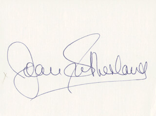 DAME JOAN SUTHERLAND - AUTOGRAPH