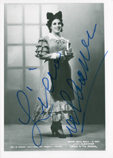 LICIA ALBANESE - AUTOGRAPHED SIGNED PHOTOGRAPH
