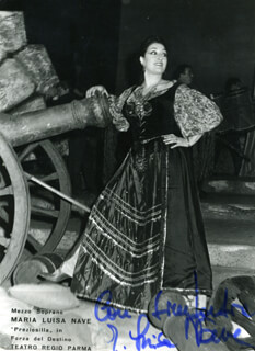 MARIA LUISA NAVE - AUTOGRAPHED SIGNED PHOTOGRAPH