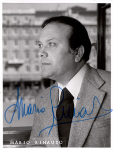 MARIO RINAUDO - AUTOGRAPHED SIGNED PHOTOGRAPH