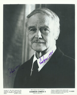 LEW AYRES - AUTOGRAPHED SIGNED PHOTOGRAPH 1984