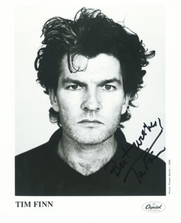 TIM FINN - AUTOGRAPHED SIGNED PHOTOGRAPH