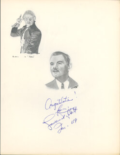 LAWRENCE TIBBETT - ORIGINAL ART SIGNED 1/1949 CO-SIGNED BY: DOROTHY A. AHRENS