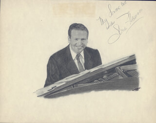 Autographs: SKITCH HENDERSON - ORIGINAL ART SIGNED CIRCA 1949 CO-SIGNED BY: DOROTHY A. AHRENS