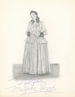 MARGUERITE PIAZZA - INSCRIBED ORIGINAL ART SIGNED 1950 CO-SIGNED BY: DOROTHY A. AHRENS