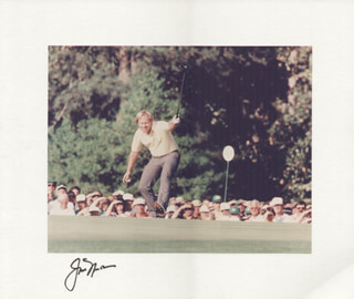 JACK NICKLAUS - PHOTOGRAPH MOUNT SIGNED