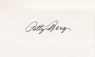 Autographs: PATTY BERG - SIGNATURE(S)