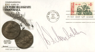 BO SCHEMBECHLER - FIRST DAY COVER SIGNED