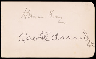 ASSOCIATE JUSTICE HORACE GRAY - AUTOGRAPH CO-SIGNED BY: GEORGE F. EDMUNDS