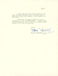DOUGLAS FAIRBANKS JR. - TYPED LETTER SIGNED 08/21/1990