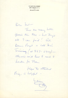 DOUGLAS FAIRBANKS JR. - AUTOGRAPH LETTER SIGNED