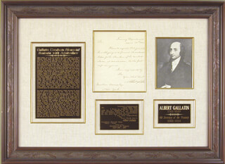 Autographs: ALBERT GALLATIN - MANUSCRIPT LETTER SIGNED 04/28/1802