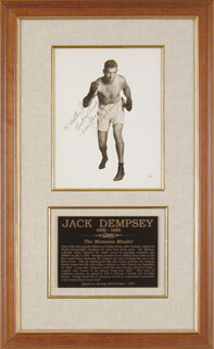 JACK DEMPSEY - AUTOGRAPHED INSCRIBED PHOTOGRAPH