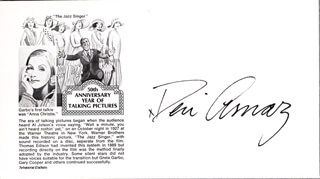 Autographs: DESI ARNAZ SR. - COMMEMORATIVE ENVELOPE SIGNED