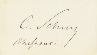 MAJOR GENERAL CARL SCHURZ - AUTOGRAPH