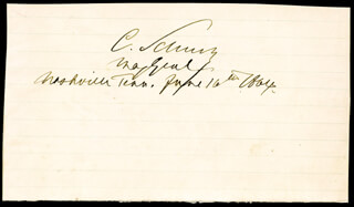 MAJOR GENERAL CARL SCHURZ - AUTOGRAPH 06/16/1864