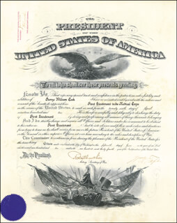 PRESIDENT WILLIAM H. TAFT - MILITARY APPOINTMENT SIGNED 06/15/1910 CO-SIGNED BY: BRIGADIER GENERAL ROBERT SHAW OLIVER