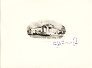 ASSOCIATE JUSTICE WILLIAM J. BRENNAN JR. - SUPREME COURT ENGRAVING SIGNED