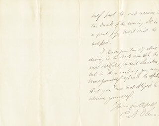 CHARLES ANDERSON DANA - AUTOGRAPH LETTER SIGNED 10/09/1884