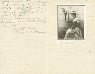 MOLLY ELLIOT SEAWELL - AUTOGRAPH LETTER SIGNED 01/16/1899