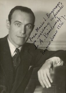 ALEXANDER BRAILOWSKY - AUTOGRAPHED INSCRIBED PHOTOGRAPH 06/1936