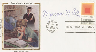 MARVA N. COLLINS - FIRST DAY COVER SIGNED