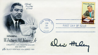 ALEX HALEY - FIRST DAY COVER SIGNED