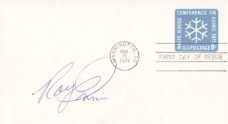 ROY E. INNIS - FIRST DAY COVER SIGNED
