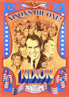 PRESIDENT RICHARD M. NIXON - AUTOGRAPHED SIGNED POSTER