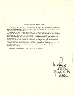 Autographs: GENERAL MATTHEW B. RIDGWAY - TYPESCRIPT SIGNED 07/10/1987