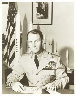 LT. GENERAL JAMES M. GAVIN - AUTOGRAPHED SIGNED PHOTOGRAPH CIRCA 1956