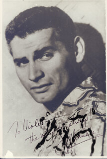JEFF CHANDLER - AUTOGRAPHED SIGNED PHOTOGRAPH