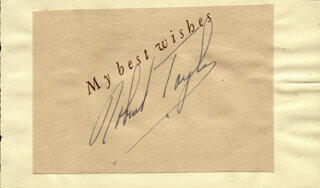 Autographs: ROBERT TAYLOR - TYPED SENTIMENT SIGNED