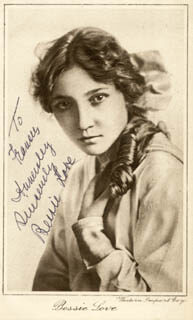 BESSIE LOVE - AUTOGRAPHED INSCRIBED PHOTOGRAPH