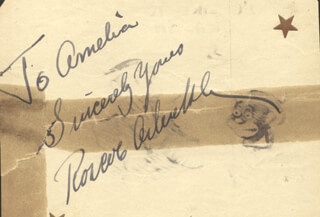 Autographs: ROSCOE FATTY ARBUCKLE - AUTOGRAPH NOTE SIGNED CO-SIGNED BY: KEN KLING