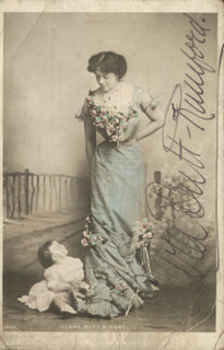 DAME CLARA ELLEN BUTT - PICTURE POST CARD SIGNED