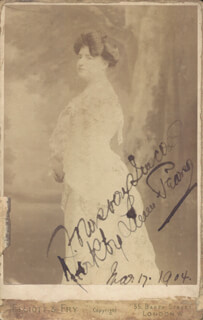 LOUISE KIRBY-LUNN - AUTOGRAPHED INSCRIBED PHOTOGRAPH 03/17/1904