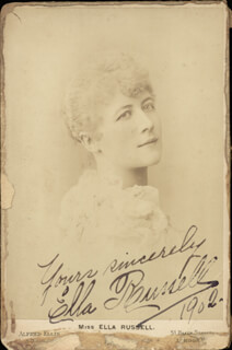 ELLA RUSSELL - AUTOGRAPHED SIGNED PHOTOGRAPH 1902