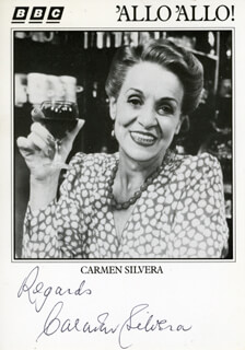 CARMEN SILVERA - AUTOGRAPH SENTIMENT ON PRINTED PHOTOGRAPH SIGNED