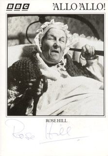ROSE HILL - PRINTED PHOTOGRAPH SIGNED IN INK
