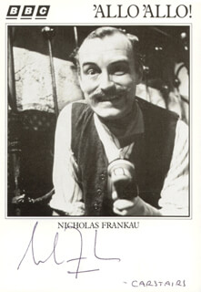 NICHOLAS FRANKAU - PRINTED PHOTOGRAPH SIGNED IN INK