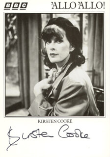KIRSTEN COOKE - PRINTED PHOTOGRAPH SIGNED IN INK