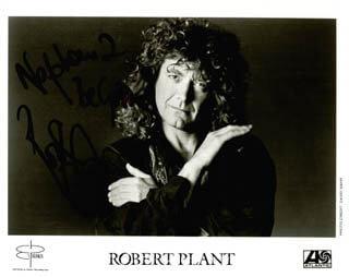 LED ZEPPELIN (ROBERT PLANT) - AUTOGRAPHED INSCRIBED PHOTOGRAPH