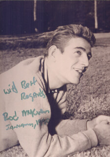 ROD MCKUEN - AUTOGRAPHED SIGNED PHOTOGRAPH 01/1990