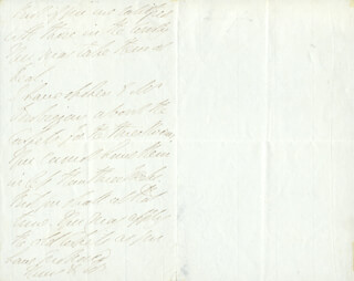 DUKE (ARTHUR WELLESLEY) OF WELLINGTON (GREAT BRITIAN) - AUTOGRAPH LETTER SIGNED 04/07/1841