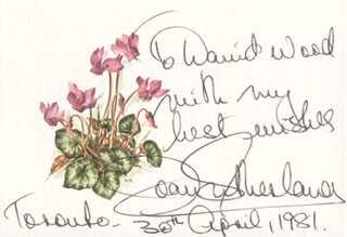 DAME JOAN SUTHERLAND - AUTOGRAPH NOTE SIGNED 04/30/1981
